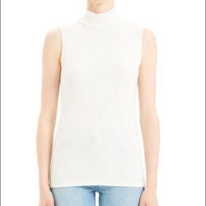 Theory Hodall Leather Overlay Shirt